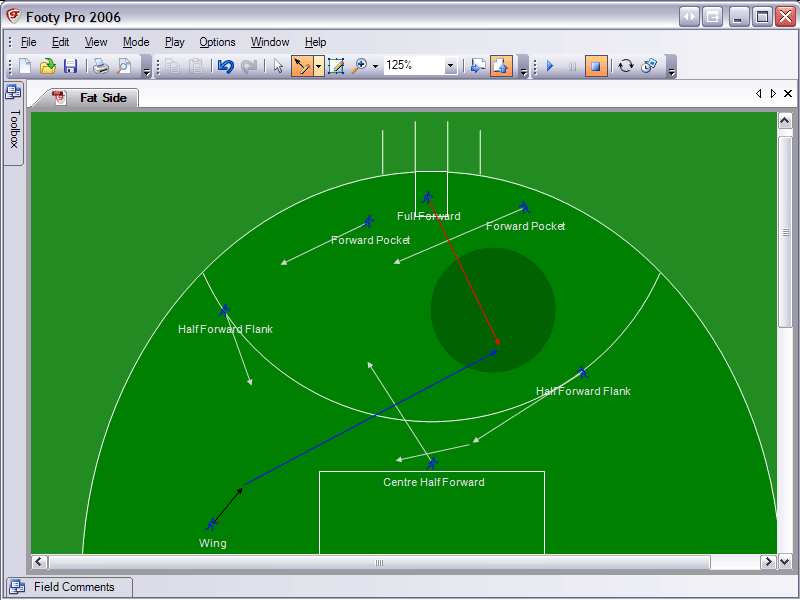 Footy Pro 2006 allows coaches to create animated plays and drills.