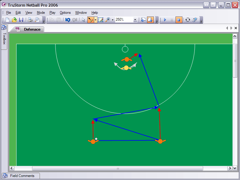 Netball Pro 2006 allows coaches to create animated plays and drills.